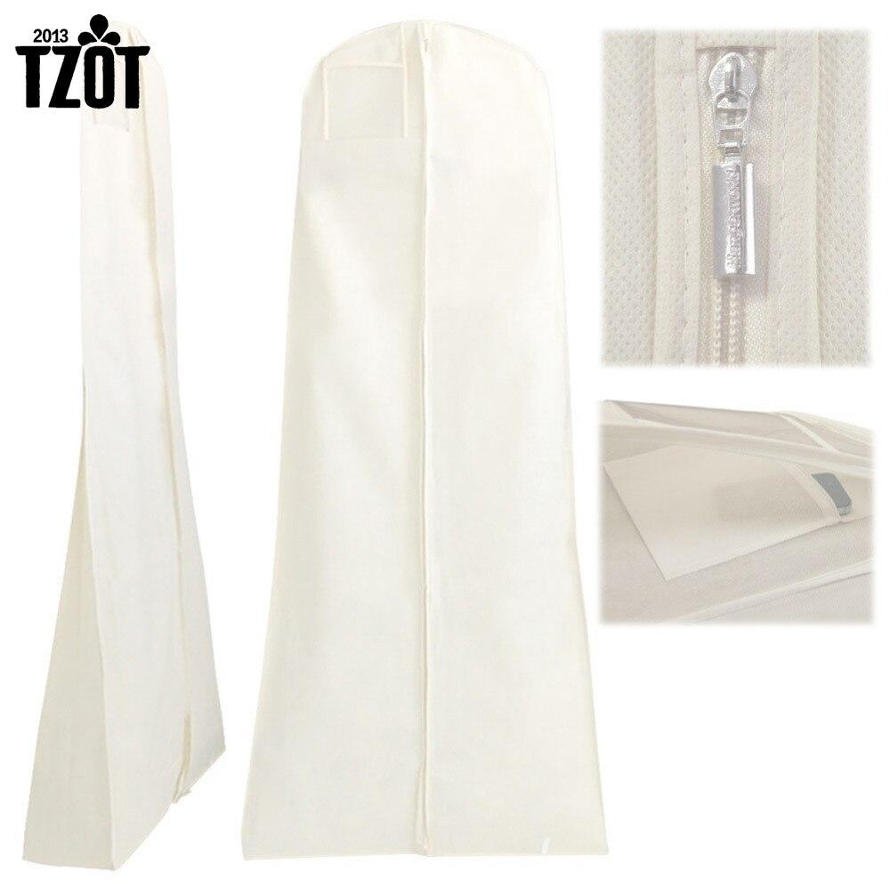 Netkané textilie a plastové svatební šaty Oděv Prach Proof Cover Tašky Skladovací tašky pro oblečení -FF