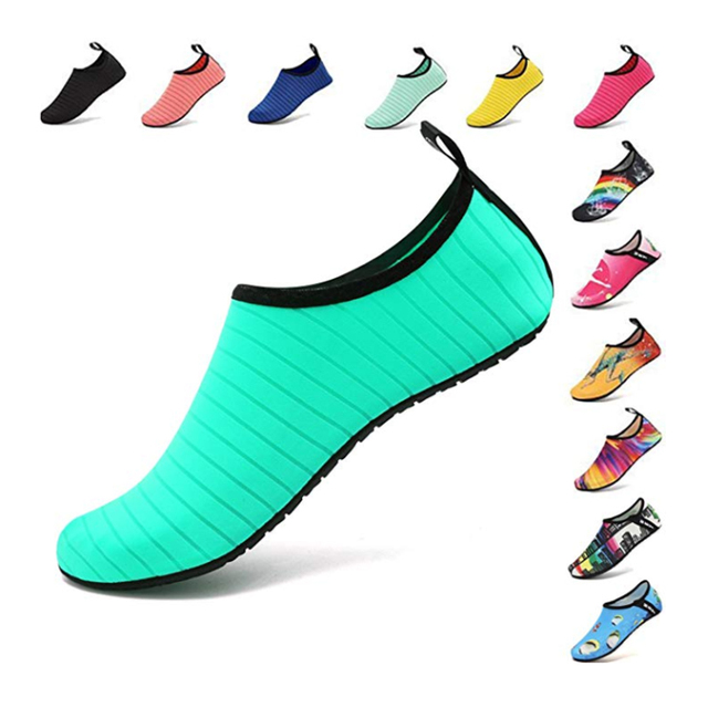 Summer Water Shoes Men Swimming Shoes Aqua Beach Shoes Big Plus Size Sneaker for Men Striped Colorful zapatos hombre