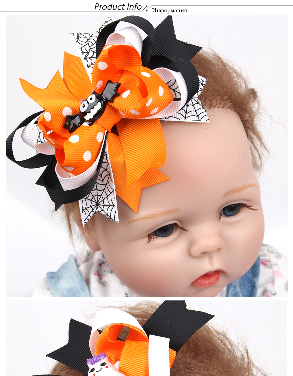 2018 Halloween Swallowtail Bow Hairpin Cartoon Bat Hair Accessories ... d9f1b756e5d