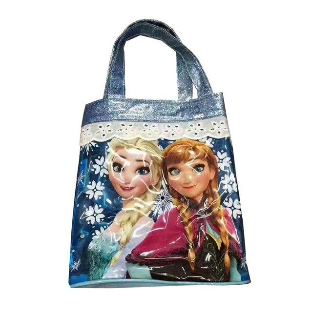 Cute Elsa Anna Princess Pvc Plastic Waterproof Transpa Small Beach Bag Handbag Top Handles Tote