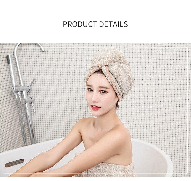 Women's Microfiber Bath & Hair Towels Set 9