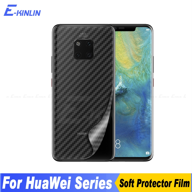 Carbon Fiber Back Cover Screen Protector For Huawei Mate 30 RS 9 10 20 20X X Lite Pro 5G Sticker Protective Film Not Glass