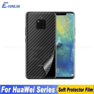 Чехол-накладка из углеволокна Защитная пленка для экрана для Huawei Mate 40 30 30E RS 9 10 20 20X X Lite Pro Plus 5G стикер пленка не стекло