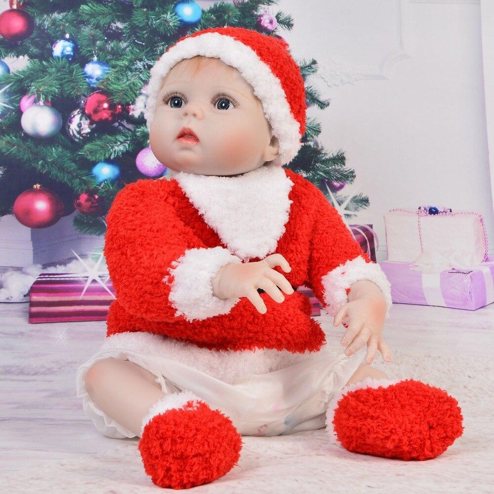 55 cm corps entier Silicone Reborn bébé fille poupées Reborn peut bain Bebe poupée Reborn bébés jouets cadeau pour enfants Juguetes bonecas