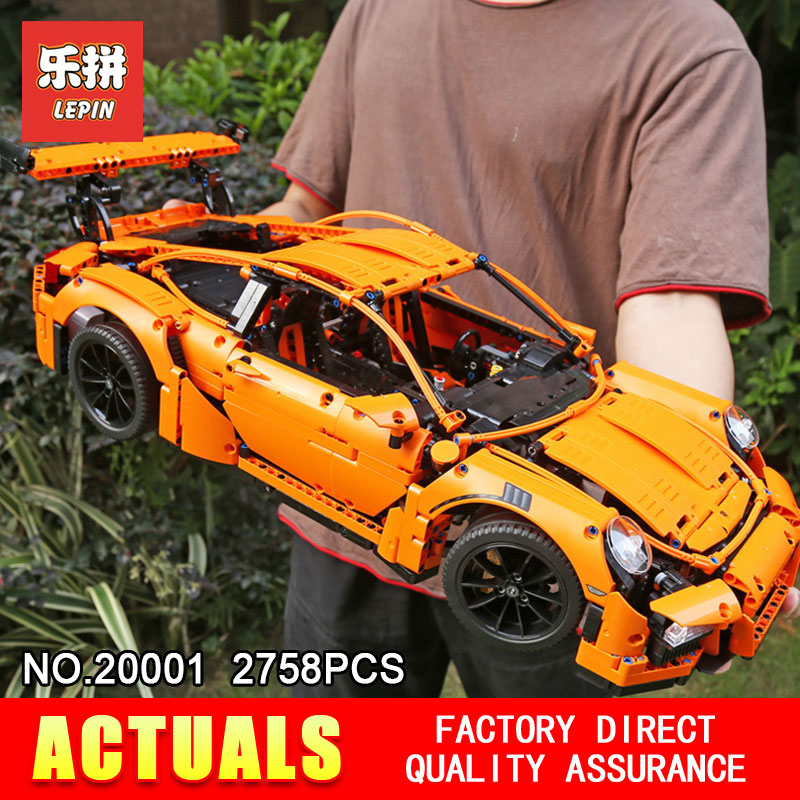LEPIN 20001 Technic Series Model Building Blocks Bricks Compatible 42056 Supercar Racing Car Gift Educational Toys