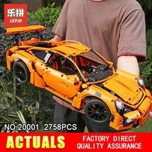 Лепин 20001 техника серии модель здания Конструкторы кирпичи Совместимость 42056 суперкар гоночный автомобиль подарок развивающие игрушки