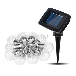 HobbyLane Outdoor 20 LED Solar Light Strings Waterproof Copper Wire Pineapple Ball Garden Festival Party Bulb Decoration Lamps