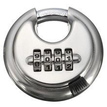 Защитный замок из серебряного стального сплава 4 значный комбинированный