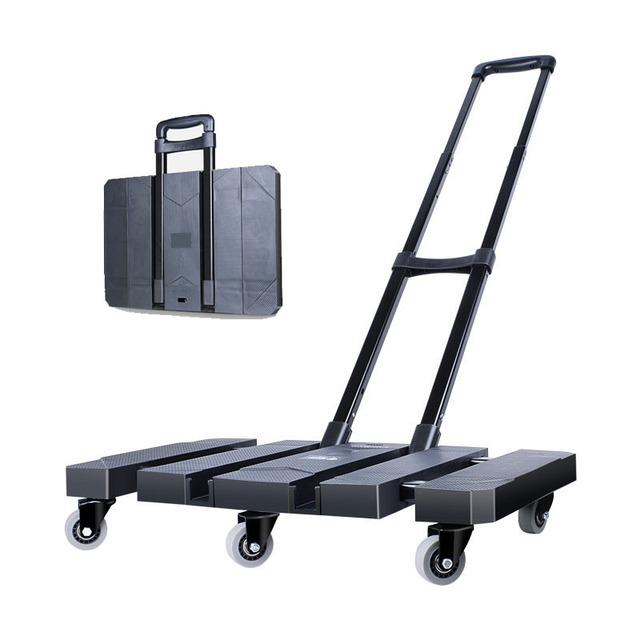 29e06c153f34 US $100.99 |Mini Carriage Chassis Telescopic Trolley Trailer Tractor Pull  Truck Cart Small Folding Portable Travel Luggage Cart-in Travel Accessories  ...