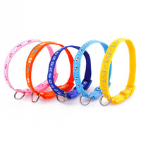 Dog Collar Pet Cat Puppy Kitten Colorful Nylon With A Ring Adjustable Comfortable Classic Lead Collar