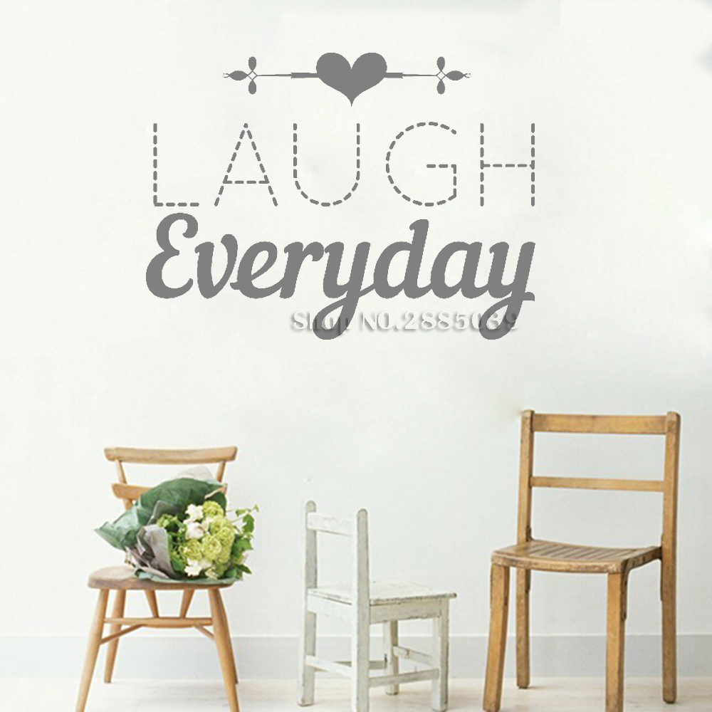 Romance Life Wall Stickers Quotes Laugh Everyday Art Family Bathroom Mirror Gl Decals Removable Vinyl New Lc355 In From Home