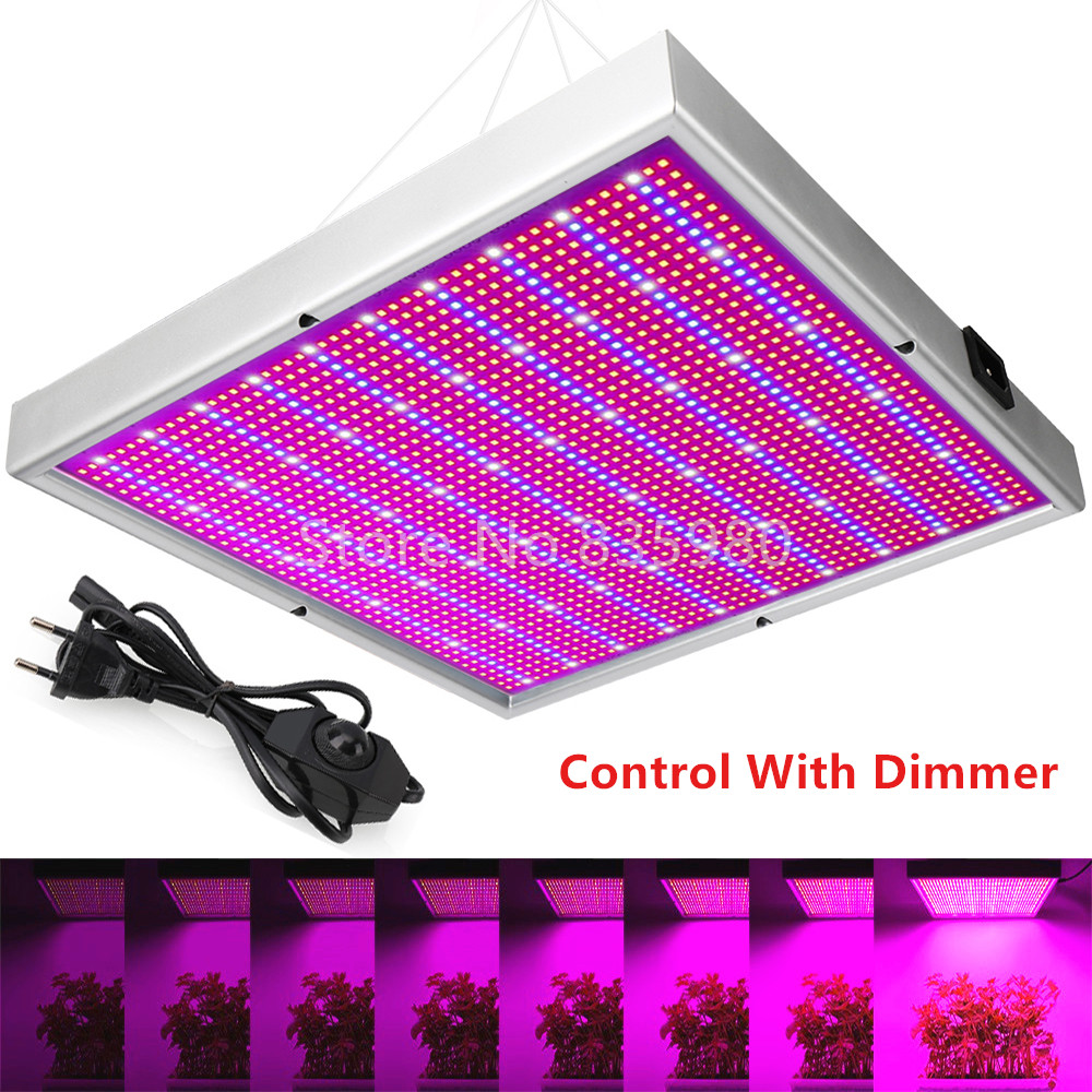 2000LED Grow Light With Dimmer AC85 265V Indoor Greenhouse Tent Hydroponic Aquarium 200W Full Spectrum Adjustable