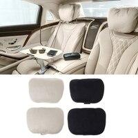 2 pçs universal encosto de cabeça do carro s classe ultra macio travesseiro para mercedes benz maybach|Almofada para pescoço| |  -