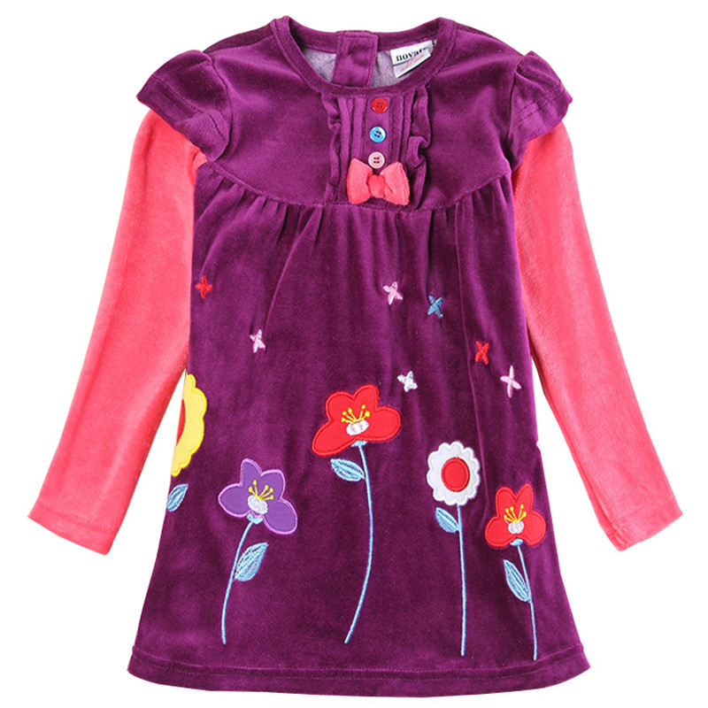 novatx H5613 retail fuchsia baby girl clothes long sleeves children kids girl for beautiful party dress free shipping casual novatx h5603 retail baby girl cloth 2016 new arrival carton long sleeves baby kids girl children dress for beautiful party