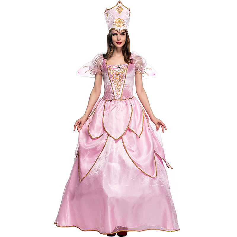Hot Sexy élégant de luxe fée marraine Costume adulte Glinda assistant d'oz Halloween robe fantaisie