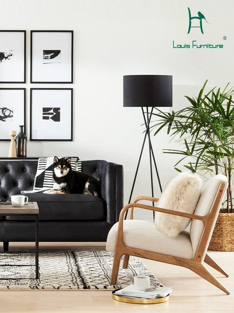 Louis Fashion Living Room Chairs Nordic Minimalist Modern Single