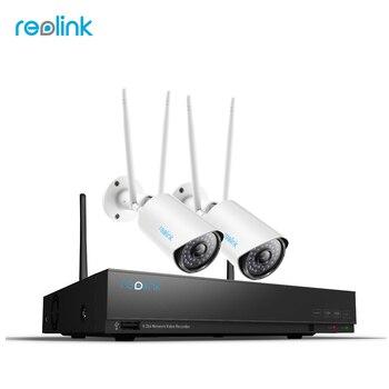Reolink 1080 P беспроводной безопасности камера системы 4Ch Wi Fi NVR и 4 s открытый товары теле видеонаблюдения 1 ТБ HDD RLK4-210WB2