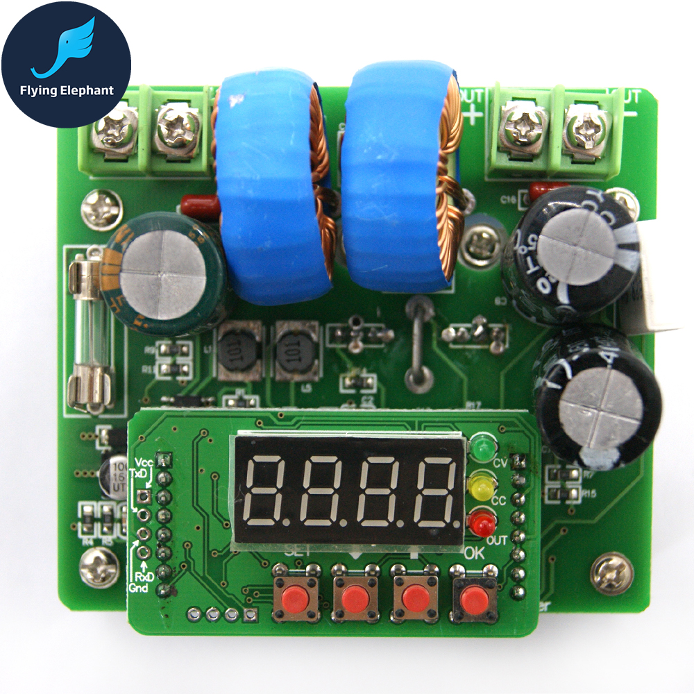 Adjustable Step-up Power Module CNC Display DC-DC 400W 15A CC CV 6V~40V IN 8V~80V OUT 95% Efficiency джилекс циркуль 32 40