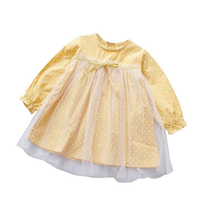 Kids Girls Dresses Lovely Princess Dresses For Girls Long Sleeve Mesh Dress Baby Clothes 2018