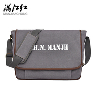 MJH New Design Canvas Men's Bag Fashion Casual Students Book Bags Business Men Messenger Bags Dropshipping Free Shipping