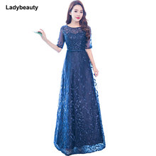 Ladybeauty Real Photos Vintage white Evening Dress V-Neck prom dress A-line Formal Party Dresses Gown