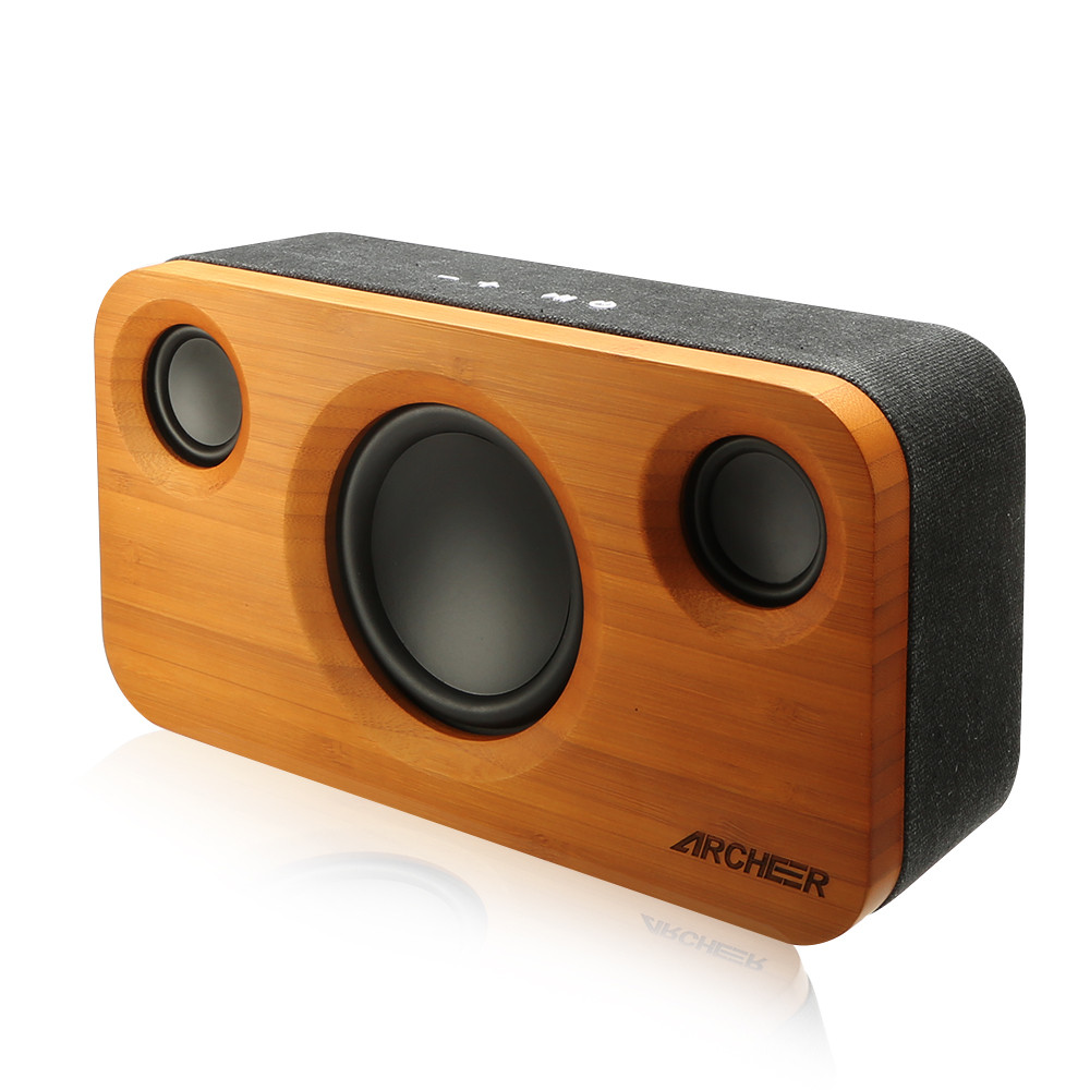 Archeer Incredible 21 Channel Sound Bamboo Stereo Speaker Dual Audio Speakers Embedded Enhanced Stage For Phone Pc In Combination From