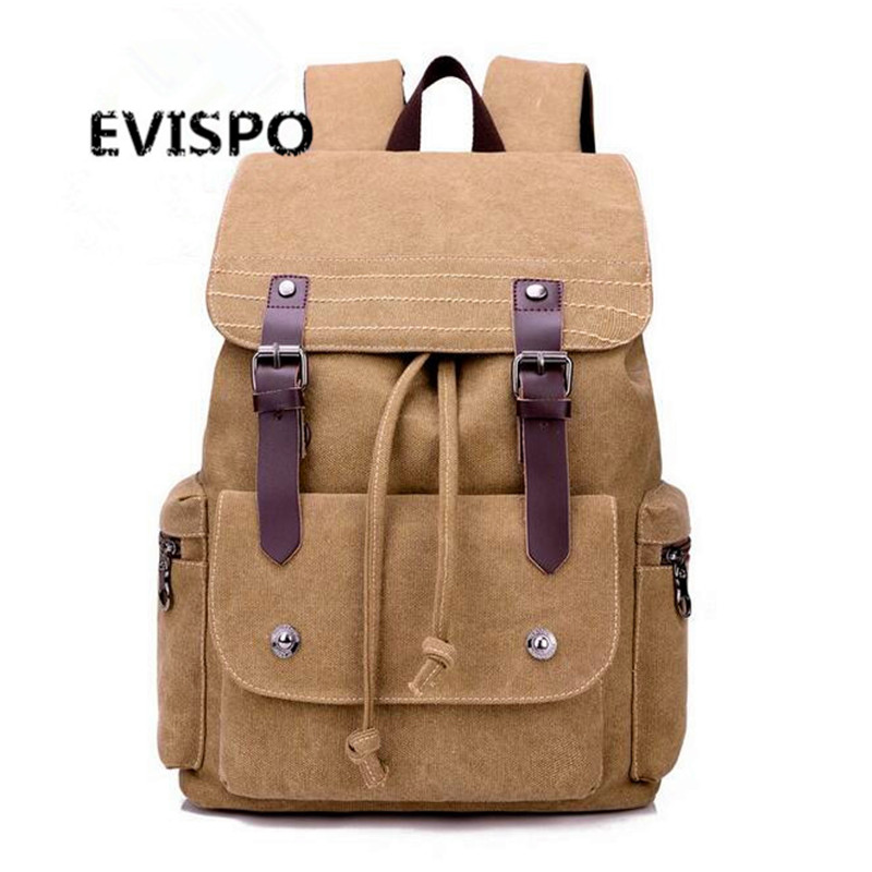 ФОТО  Style Fashion Backpacks for Men and Women Solid Preppy Style Soft Back Pack Unisex School Bags Big Capicity Canvas Bag