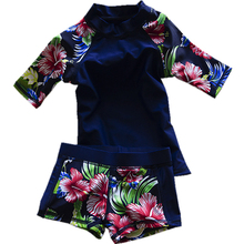 Здесь можно купить  GI FOREVER New 2017 Children Short Sleeve Swimwear Two Piece Suit Hot Sale Girl Cute Swimsuit Bathing Suit Maillot De Bai