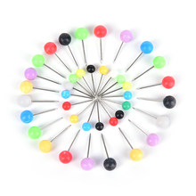 Multicolor Perla Testa Pin Linea di Pesca Spille 200 PZ Fishing Tackle Strumenti di Pesca All'ingrosso invio casuale(China)