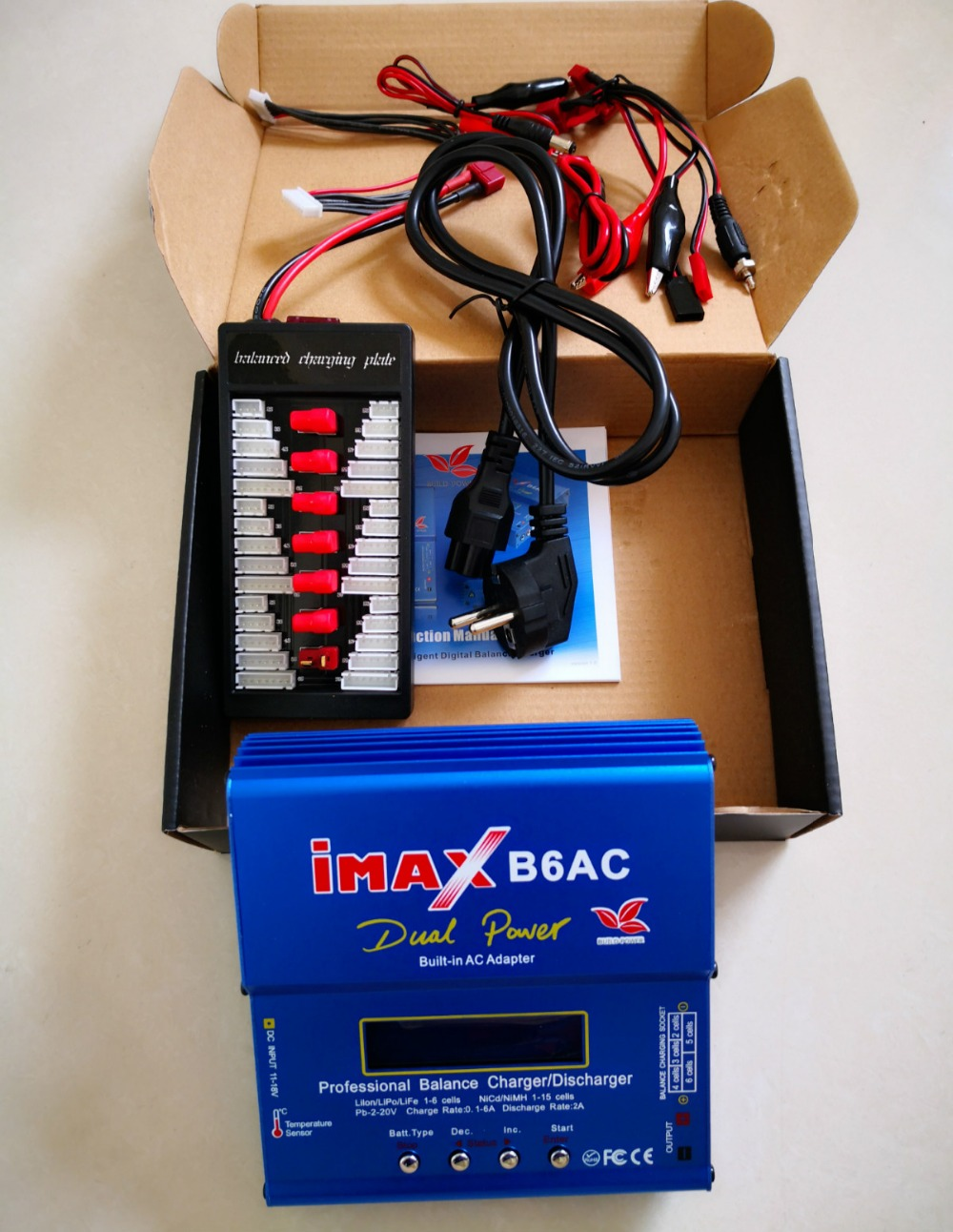 imax B6 B6AC Battery Balance Charger 80W 6A LCD Display Li-ion Polymer Ni-MH Battery Balance discharger with Balanced Plage