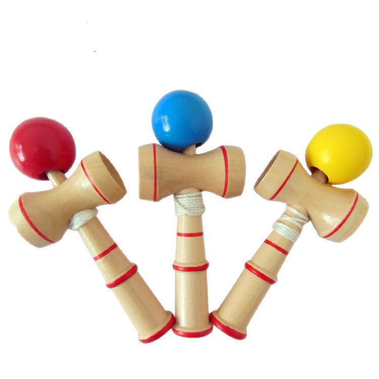 10 шт./лот деревянный Kendama жонглировать умелые мяч игры игрушки Kid комплект ребенок традиционные японские игры