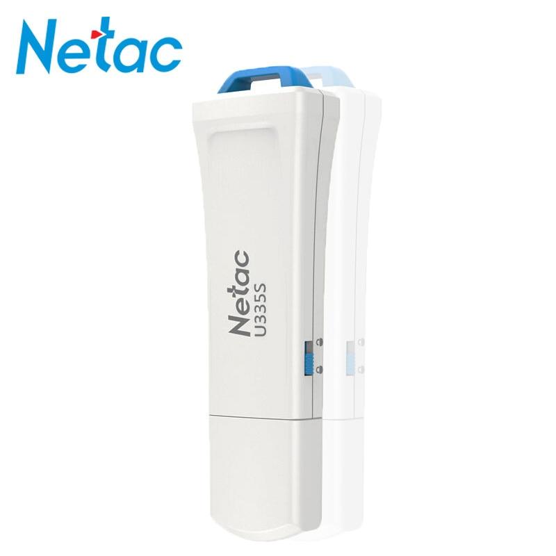 Netac USB 3.0 stylo lecteur cle USB Flash lecteur 64 GB U335S physique écriture protégé interrupteur plastique clé USB clé 64 gb