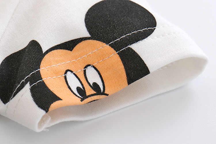 Verão macacão de manga curta roupas de escalada do bebê puro algodão fino macacão recém-nascido do bebê meninos meninas dos desenhos animados roupas pijama