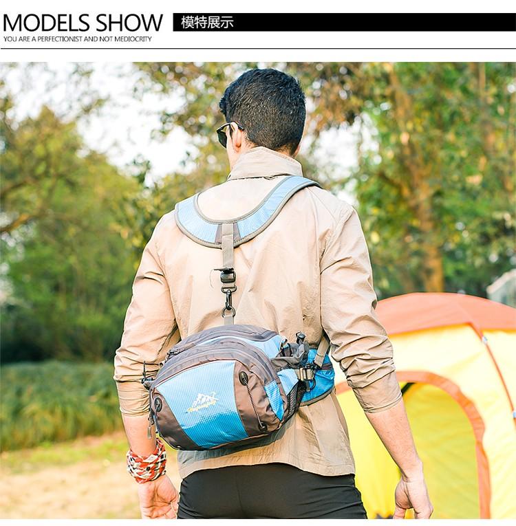 Men Women Sport Waist Bag Pack Backpack With Bottle Holder Outdoor Exploration Travel Casual Cycling Gym Storage Bag Packs (4)