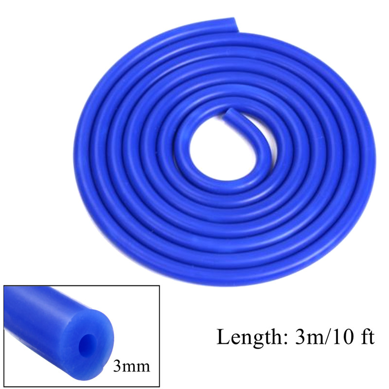 3 Meter Long Blue Silicone Vacuum Hose Turbo Air Intercooler Coupler Pipe 3mm ID 10ft Hose Pipe