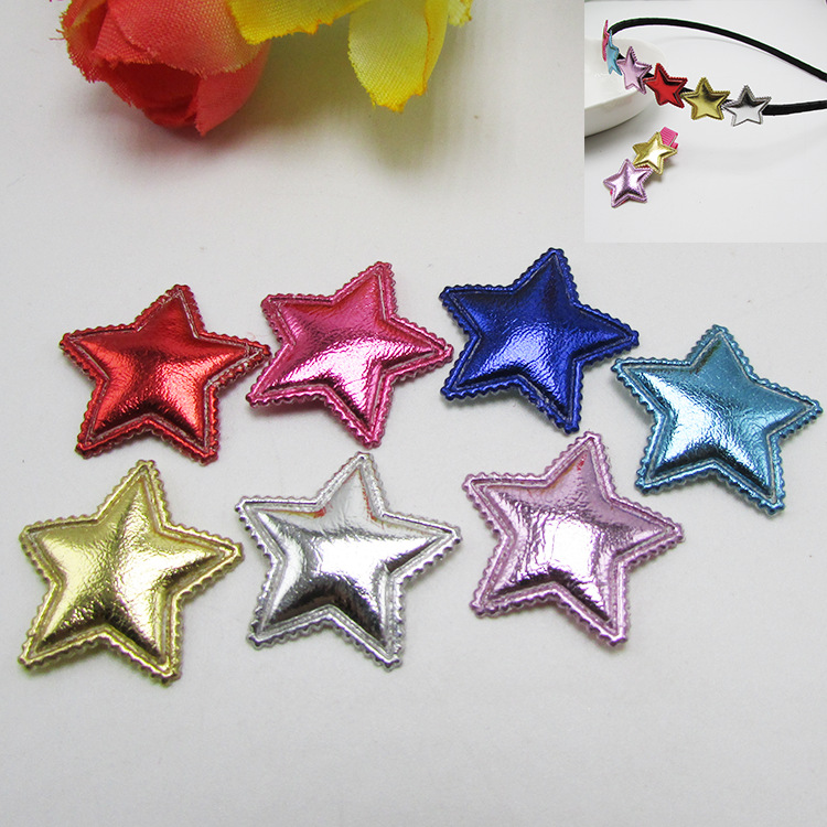 50pcs/lot Lovely pentagram  manual headdress hairpin hair rope material of hair accessories DIY accessories children