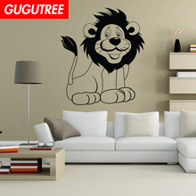 Decorate lion cartoon animal art wall sticker decoration Decals mural painting Removable Decor Wallpaper LF-1833