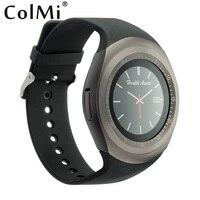 Y1 ColMi שעון חכם טלפון חריצי כרטיס TF כרטיס ה-SIM לדחוף הודעה מד צעדים שיחת מוסיקה Bluetooth להתחבר עם טלפון אנדרואיד שעון