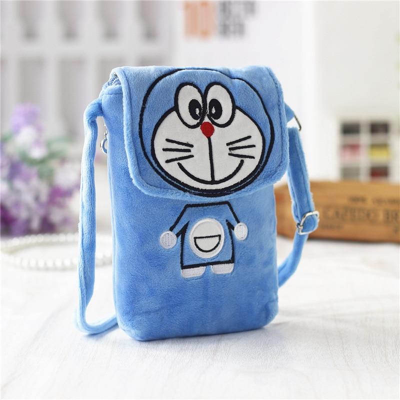Cartoon printing cute plush coin purses small phone pouches mini crossbody bags bolsas feminina for children baby girls boys