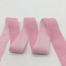 3 ярдов/партия 1 «мм (25 мм) широкий розовый бархат ленты оголовье зажимы Лук Свадебные украшения