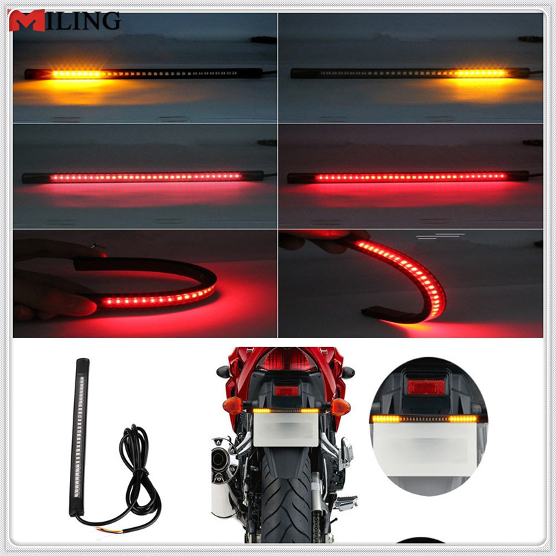 Motorcycle LED Tail Lamp Plate Light Brake Stop Turn Signal Strip For HONDA CBR250R VFR 1200 F ST 1300 Black SpiRit NC750 S X