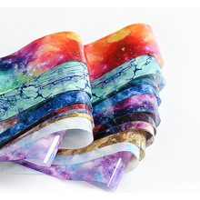 10pcs Holographic Nail Foils Colorful Galaxy Starry Sky Paper Transfer Sticker Decals Manicure Art Slider 4*50cm