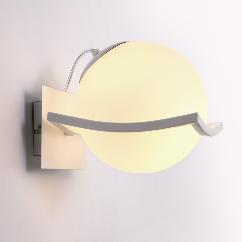 The new study of European modern minimalist creative bedroom living room wall lamp wall lamp LED aisle ball technology FG593 modern minimalist 9w led acrylic circular wall lights white living room bedroom bedside aisle creative ceiling lamp