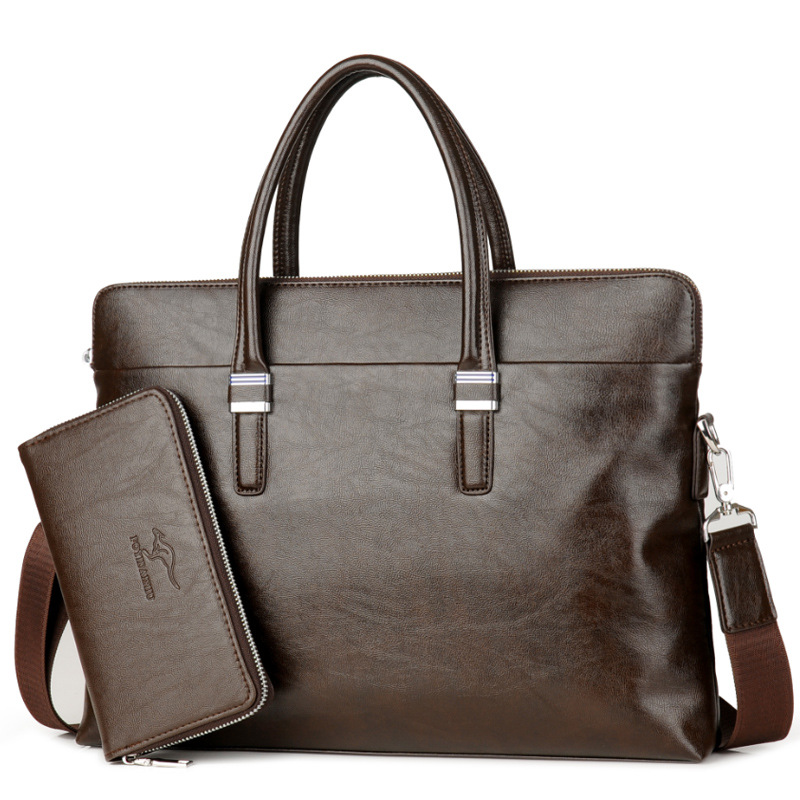 2019 Luxury Brand Men Briefcases TOP Leather Handbag Man Business Office Computer Laptop Bag Classic Male Shoulder Travel Bags