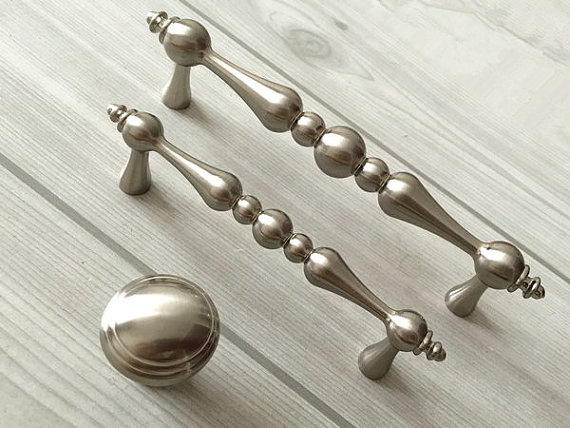 3.75 5 Drawer Knobs Pull Handles Dresser Pulls Kitchen Cabinet Door Knobs Brushed Nickel Silver Cupboard Knob Handle 96 128 mm 5 silver white dresser kitchen cabinet door handles knobs silver black drawer cupboard knobs pulls 160mm modern simple handles