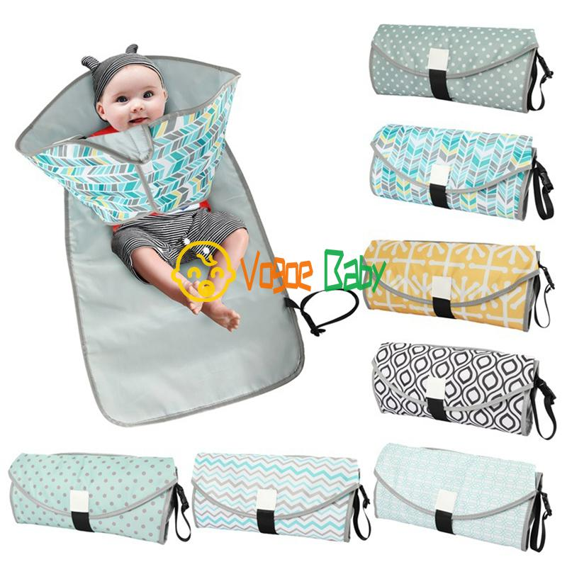 3-in-1 Baby Changing Pads Multifunctional Portable Infant Baby Foldable Urine Mat Waterproof Nappy Bag Diaper Cover Mat Travel74