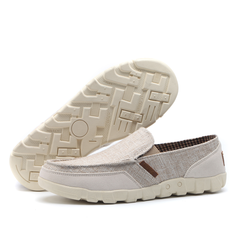 57e5af52f27d MVP BOY 2018 Classic White Canvas Shoes Men Fashion Solid Comfortable Men  Canvas Shoes Summer Slip On Shoes Men Plus Size 38 46-in Men s Casual Shoes  from ...