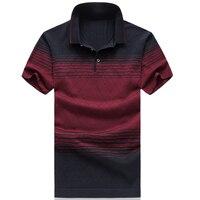 2018 Summer Fashion Brand Clothes Mens Striped Short Sleeve Polo Shirt Mens Polo Shirts Luxury Polo Shirts Male Plus Size M 6XL