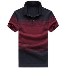 2018 Summer Fashion Brand Clothes Mens Striped Short Sleeve Polo Shirt Mens Polo Shirts Luxury Polo Shirts Male Plus Size M-6XL