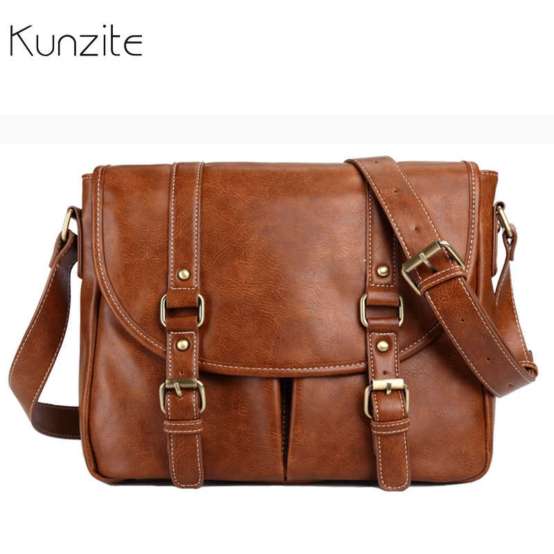 Vintage Oil Wax Leather Crossbody Messenger Bags for Women Famous Brand Shoulder Bag Luxury Designer Satchels Ladies Bag Unisex